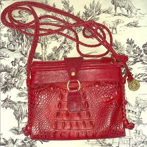 Like New! Red Brahmin Long Strap Crossbody